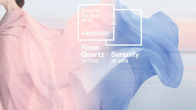 Colors of 2016: rose quartz and serenity blue