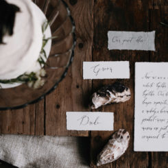 Seaside Love | Styled photoshoot | Organic Calligraphy